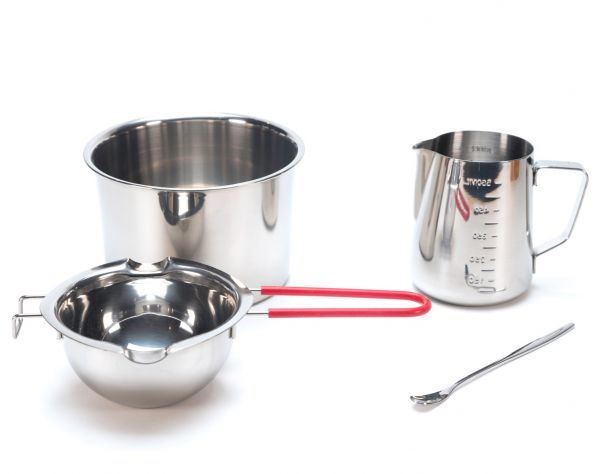 Double Boiler Stainless Steel Wax Melting Kit