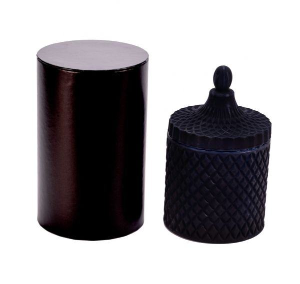 Large Cylinder Box – Black