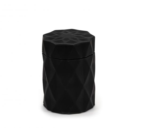 Diamond Candle Jar : Matte Black