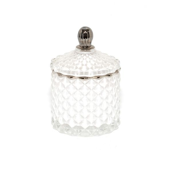 Baby Geo (100ml) : Royal White with Silver Trim