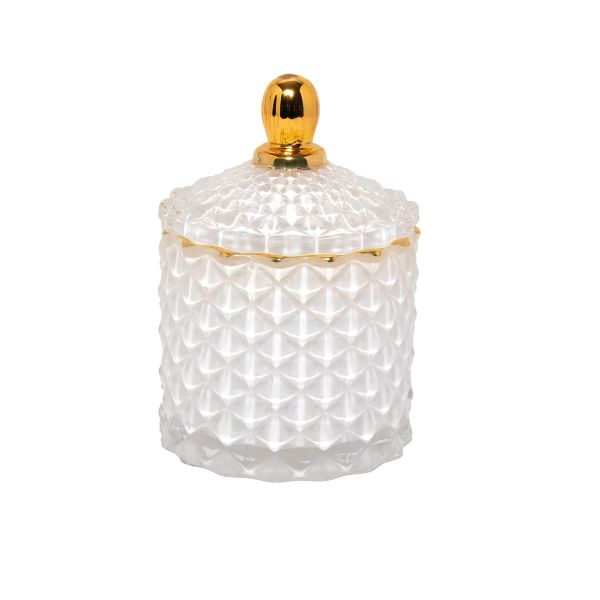 Baby Geo (100ml) : Royal White with Gold Trim