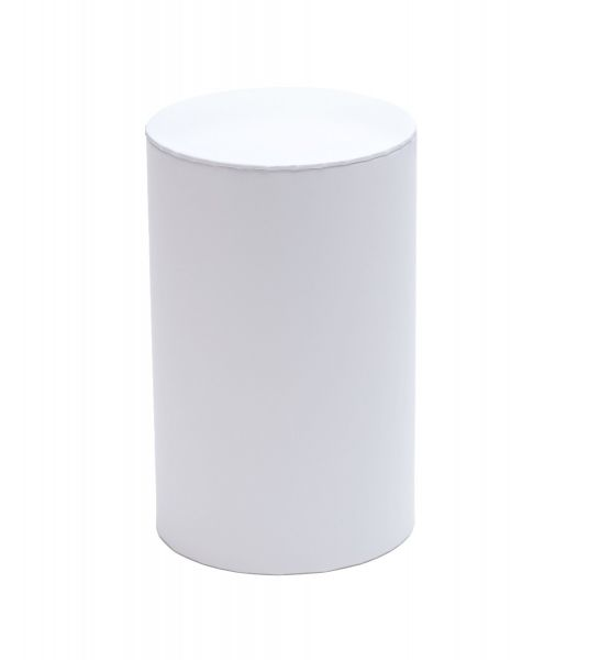 Large Cylinder Box – White